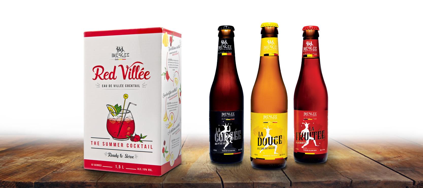 spécialités et bières belges - distillerie de biercée
