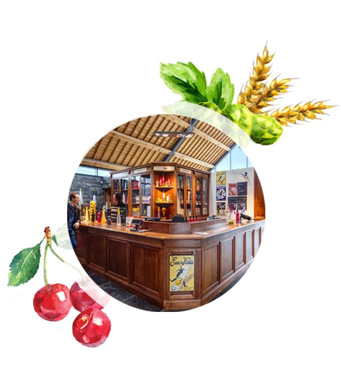 De shop van de Distilleerderij van Biercée